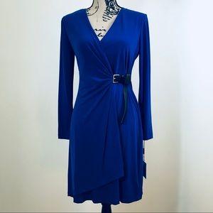Calvin Klein | Blue Mock Wrap Dress (4)